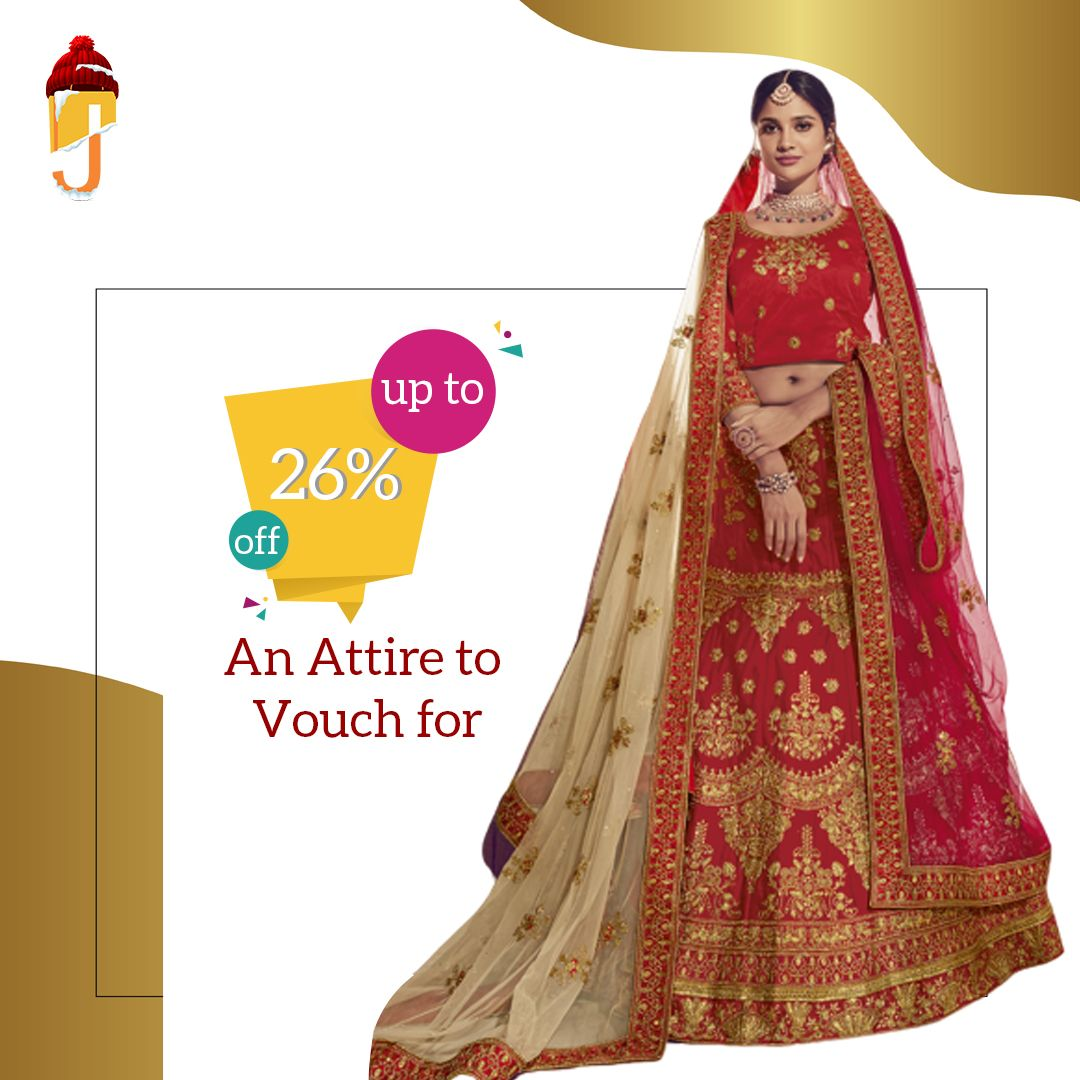 A Bridal Lehenga from Jalebe is an outfit that creates an unending charm for a bride-to-be. Get this captivating attire for a youthful appeal.  Like👍 Comment 💬 Share👏  #designerlehenga #bridallehenga #bridalwear #bridalgoals #indianwedding #weddingdiaries #jalebeinc #buynow #onlineshopping
