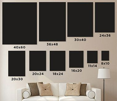 how big do you want your wall prints here s a great visual example