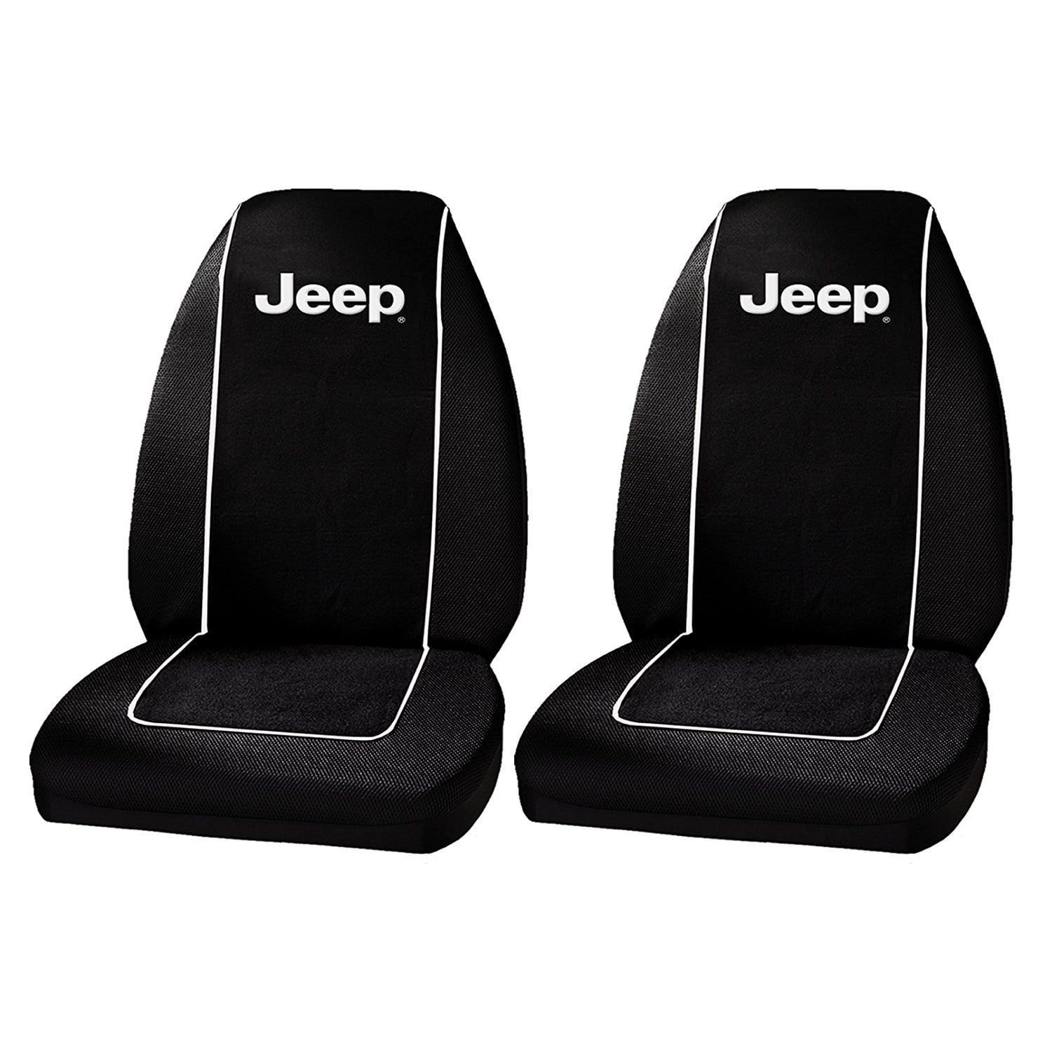 Plasticolor 6563R01 Jeep Logo Front Bucket Seat Covers One