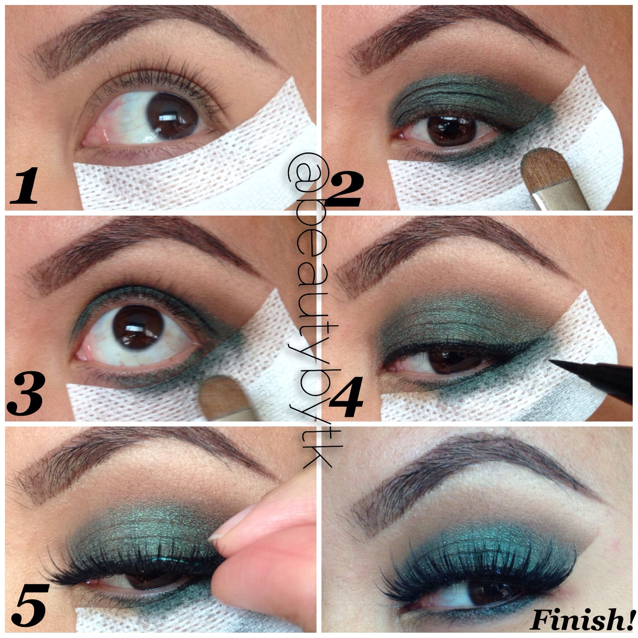 Pictorial of a holiday look created using shadow shields