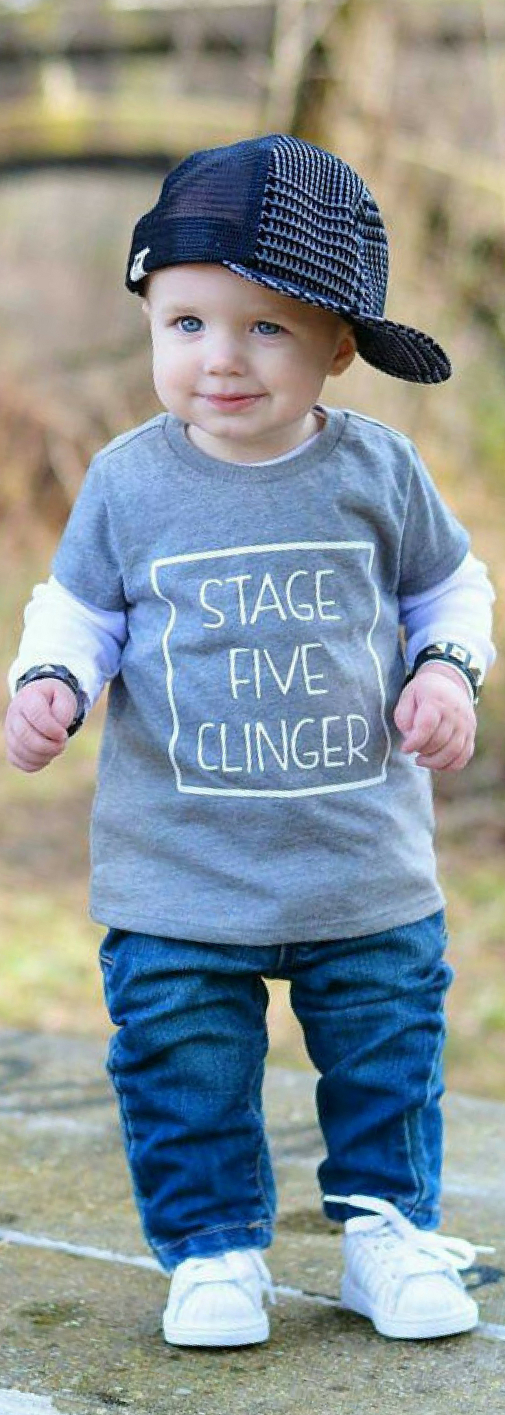 Stage Five Clinger Baby Newborn Bodysuit Toddler Shirt Funny Tee's Trendy Shirt ... 1