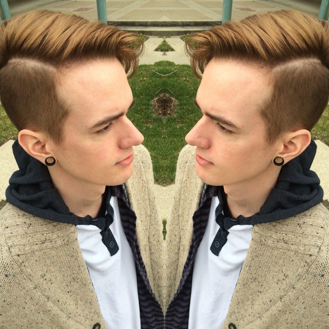 Semi long haircuts for men menscuts hardpart hairstyle man manhairstyle alternative