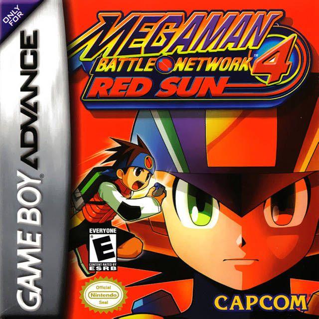 Mega Man Battle Network 4 Nintendo Game Boy Advance Gameboy Red Sun