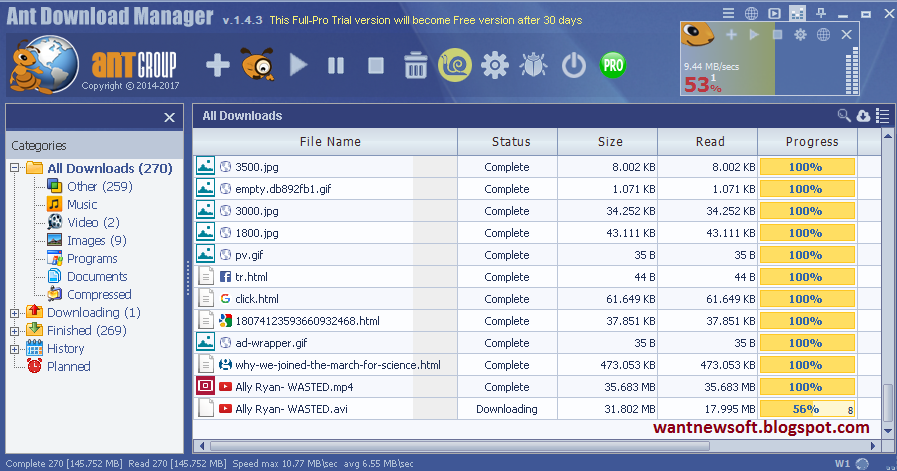 Download Free Ant Download Manager PRO with License key, Ant