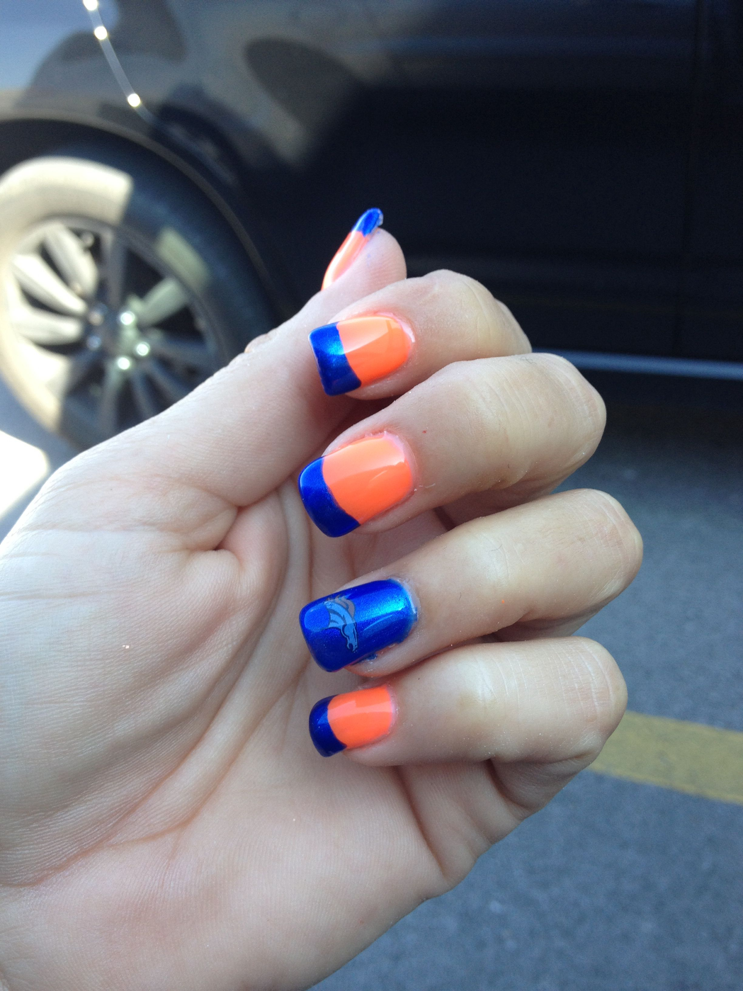 Denver Broncos | Nails by Chrissy | Pinterest | Denver, Broncos ...