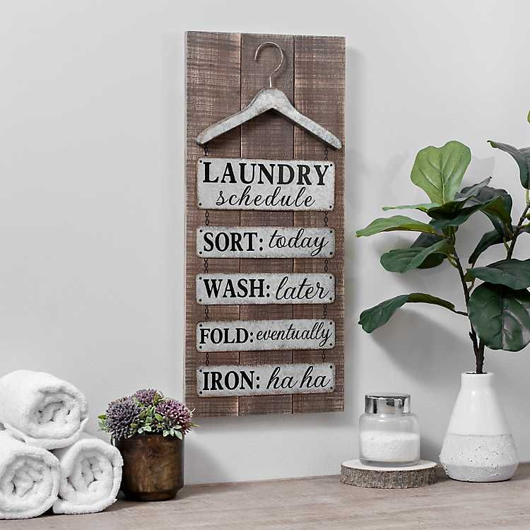 Galvanized Metal Laundry Wall Plaque Laundry Room Signs Room Signs Wall Plaques