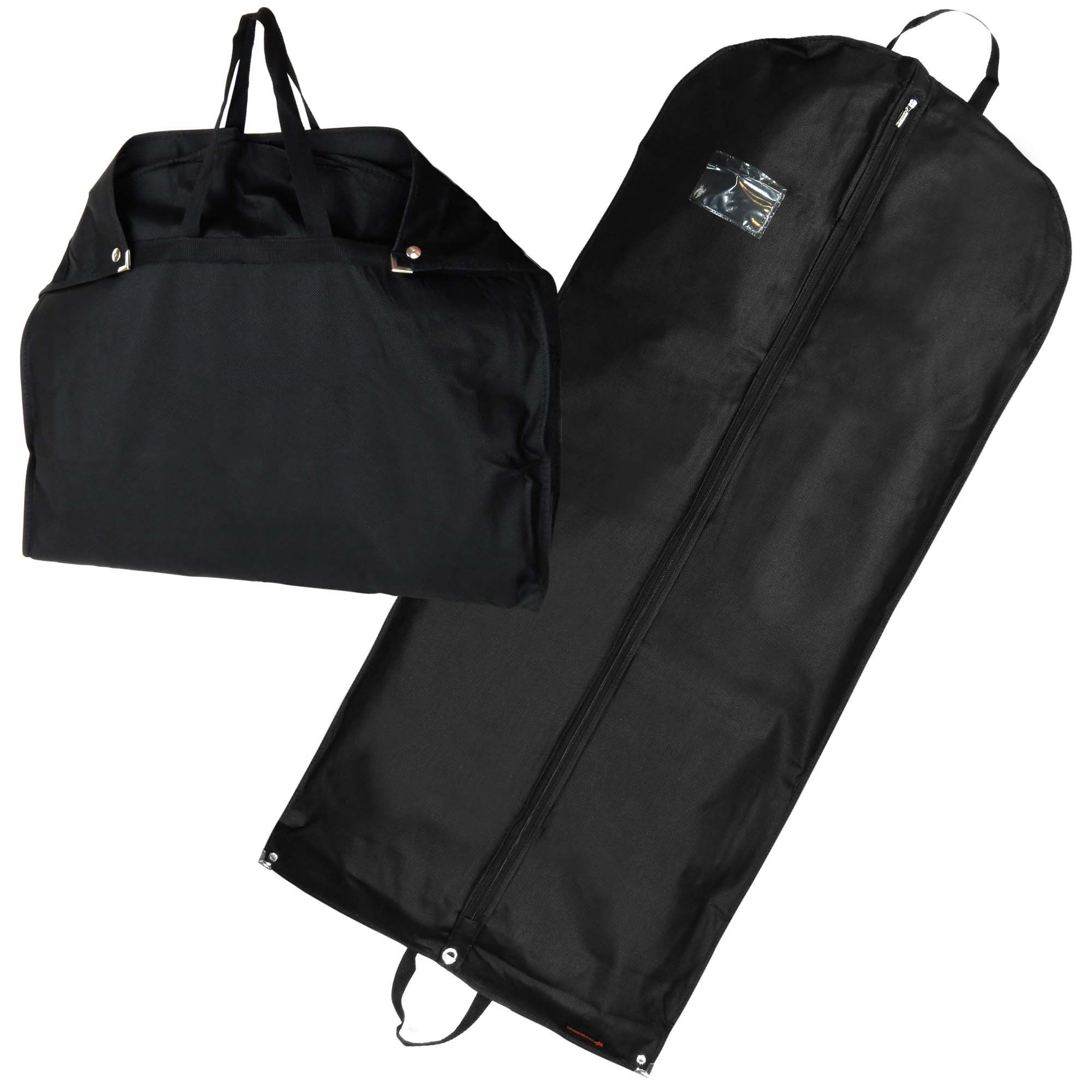 40 IN Garment Bag Travel Accessory Luggage Clothes Foldable Hanging Nylon Black
