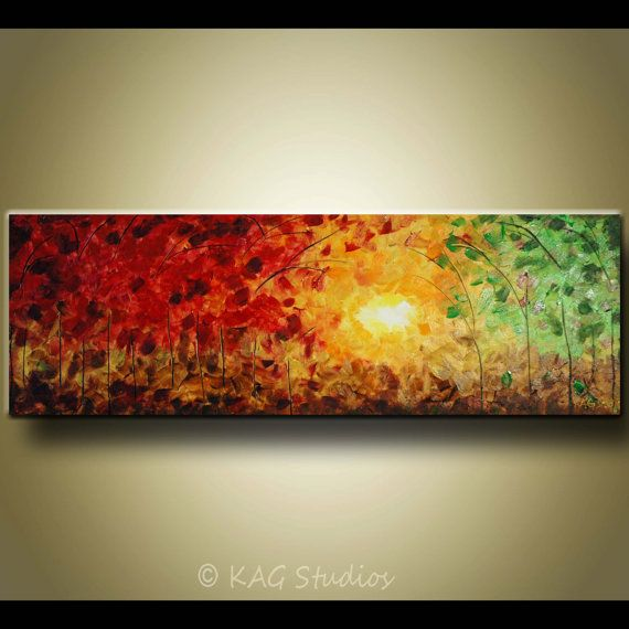 Large  Original Abstract Landscape Painting by KAG by kagstudios, $299.00