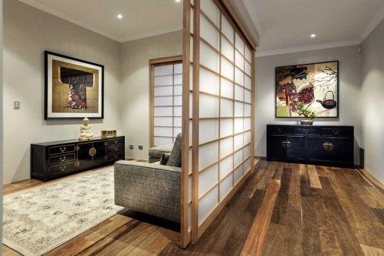 Diseño de casa de un piso estilo oriental con planos y decoración de