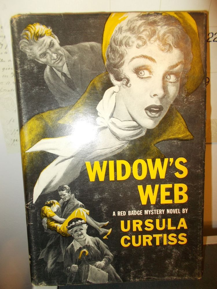 Widow's Web by Ursula Curtiss Red Badge Mystery Dust Jacket HB Book Club 1956