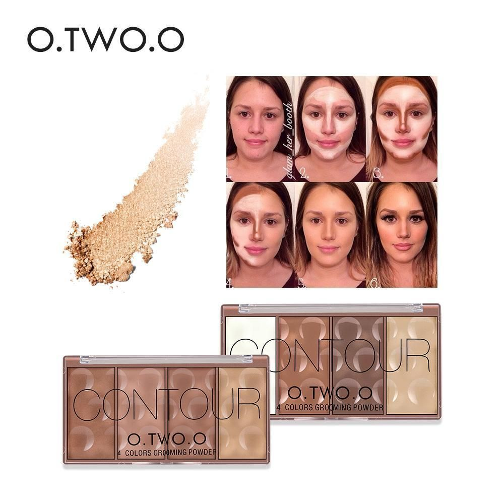 4 Color Face Make up Waterproof Grooming Face Powder