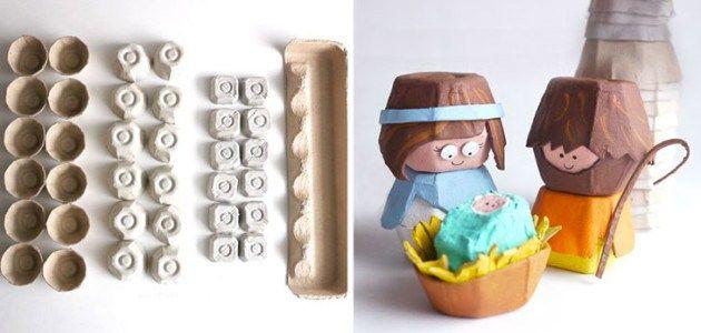Manualidad De Belén De Navidad Con Hueveras De Cartón Christmas Crafts For Kids Christmas School Egg Carton