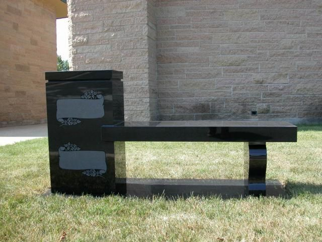 Cremation Bench Tn640x480 Memorial Cremation Bench Grc 95black1 Jpg Memorial Benches Headstones Monument