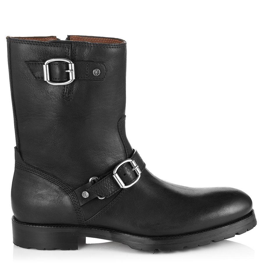 jimmy choo stanford black calf leather biker boots men s shoes rh pinterest com