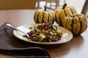 If you have not roasted squash, you should! Peel, dice, toss with a little oil and roast.  Simple goodness!  This recipe jazzes it up with nutty wild rice and tart cranberries. Yum!