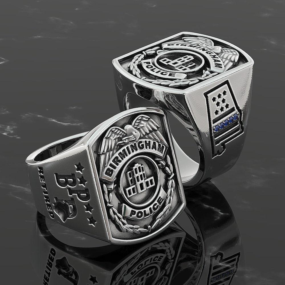 Birmingham Custom Retired Police Ring
