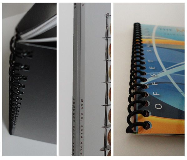 Wire-O, Perfect Bound, Spiral Binding Options