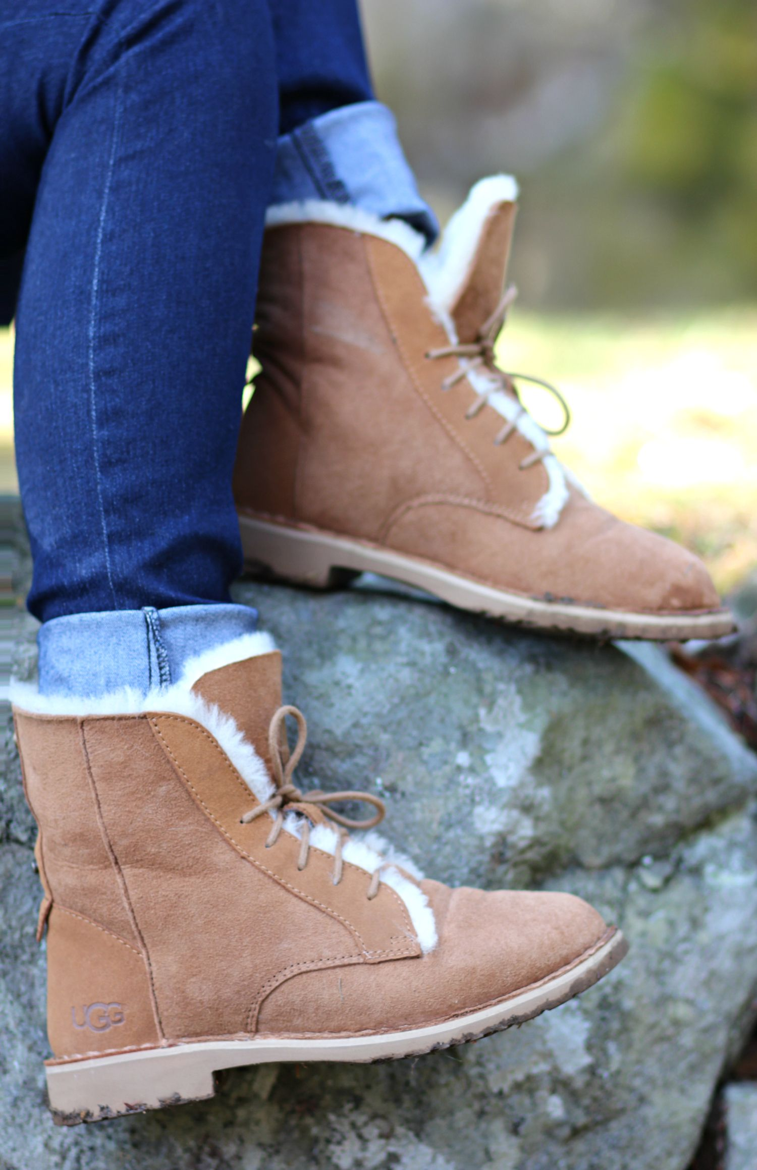 Cozy Chestnut Quincy UGG Boots   Diary of a Debutante