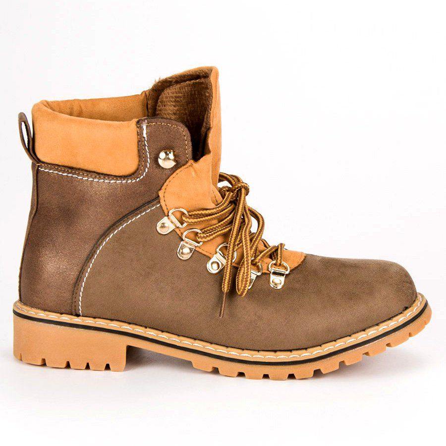 Brazowe Trapery Damskie Boots Timberland Boots Shoes
