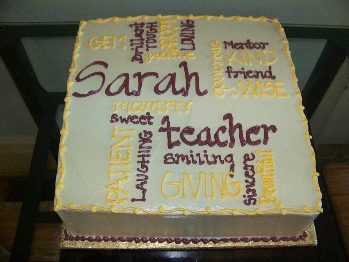 Sweet adjectives cake. All the words that describe your