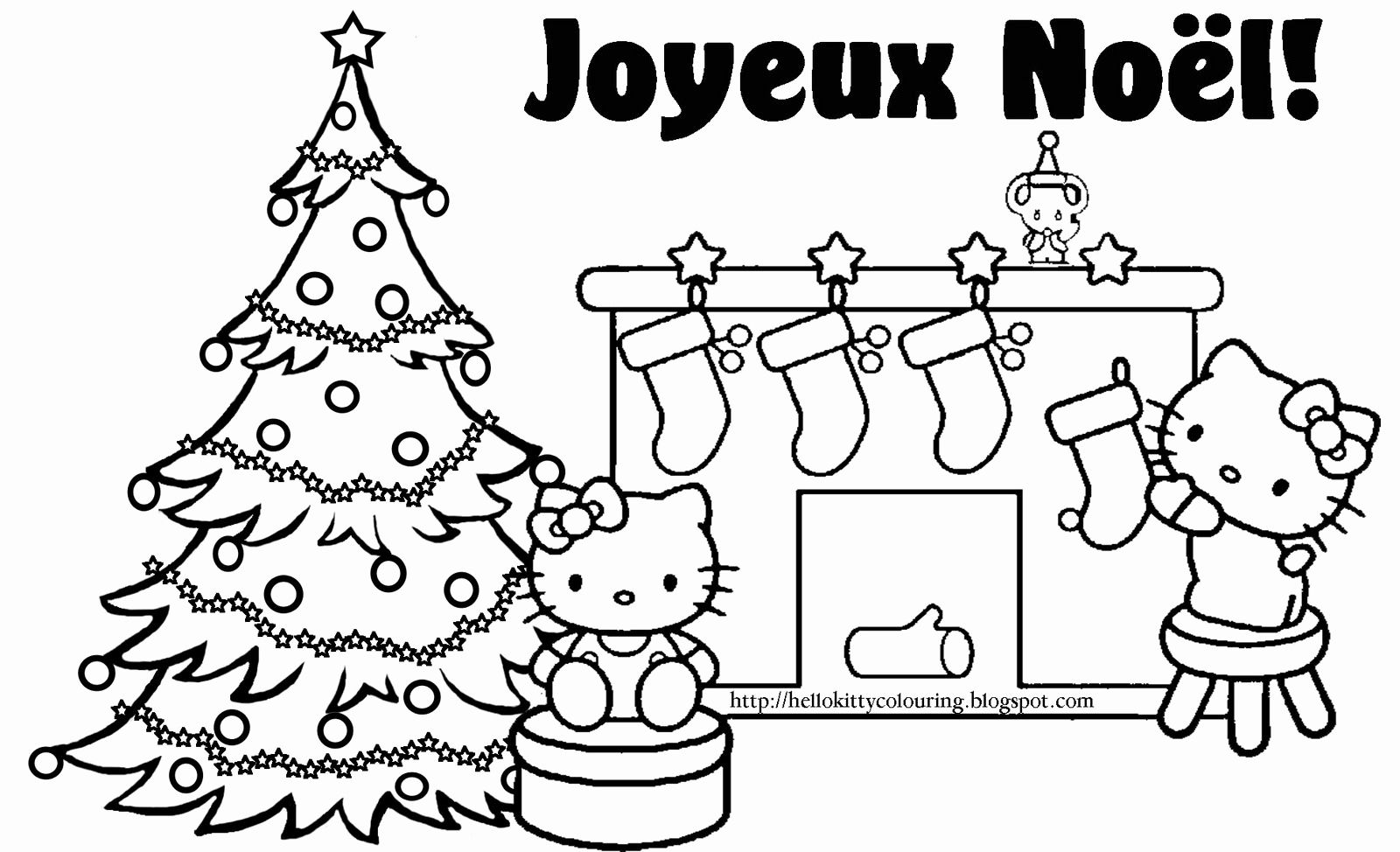 Hello Kitty Christmas Coloring Pages Di 2020