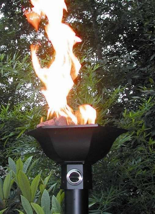 Natural Gas Tiki Torches Around Pool Home Tiki