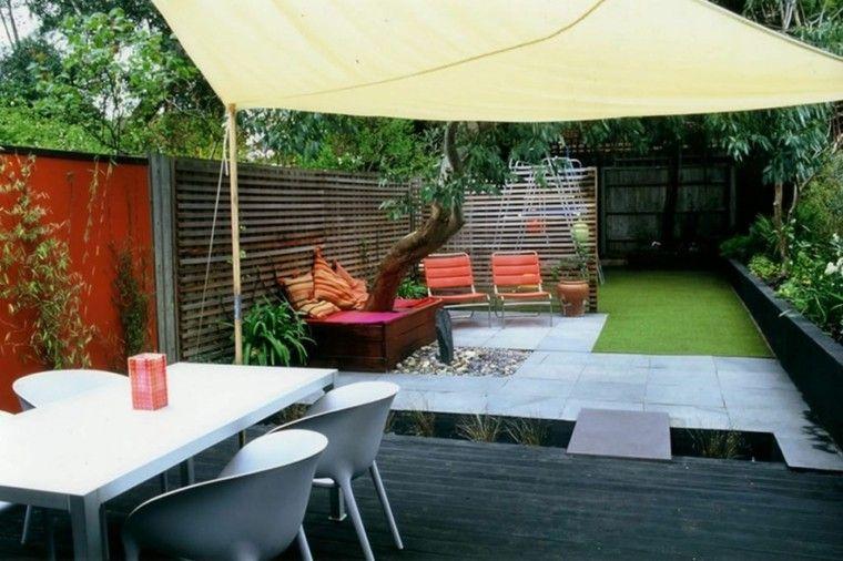 bonito jardin pequeño de diseño minimalista | exteriores
