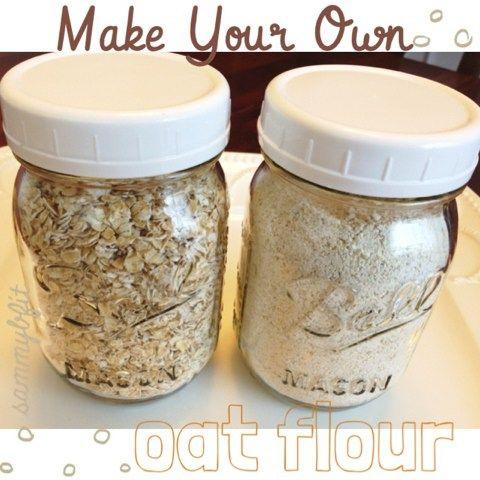Cómo hacer harina de avena    http://withpeanutbutterontop.com