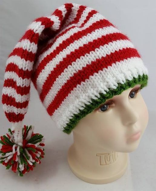 8a466843a8f Candy Cane Stocking Hat - Elf Hat - Gnome Hat - Christmas Baby Hat ...