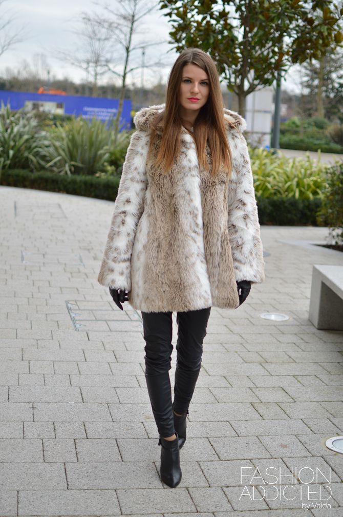 gharani-strok-faux-fur-hooded-coat | I love this | Pinterest ...