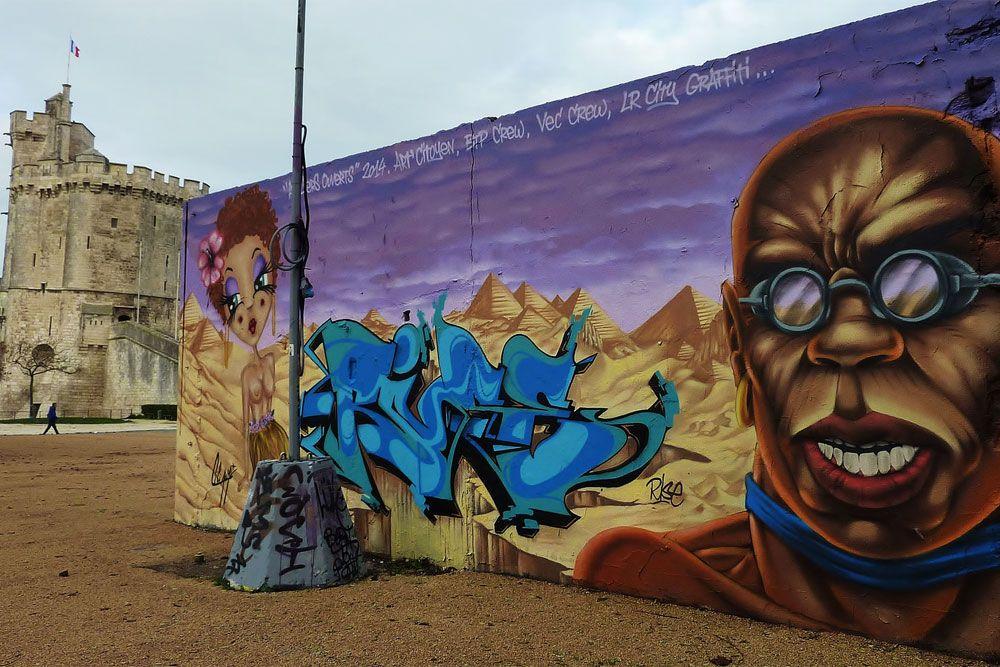 La Rochelle's famous graffiti