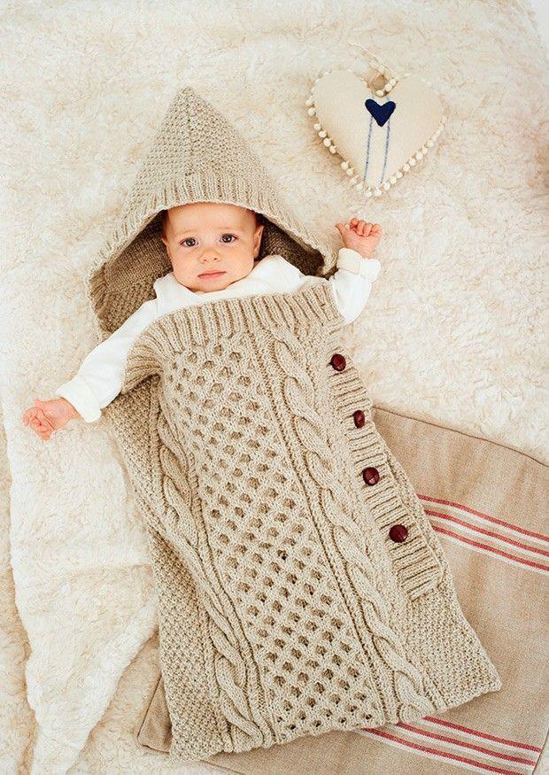 Knit but inspiring baby sleep bag | Knit & Crochet ~ BLANKETS ...