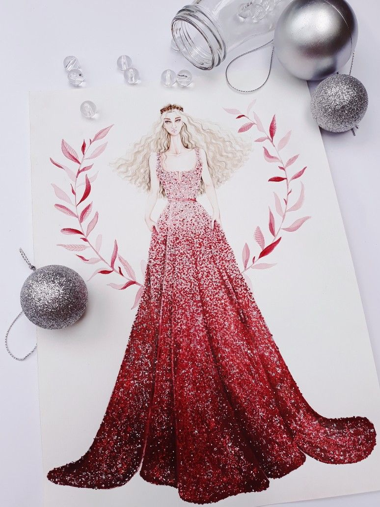 Elie Saab Fall Winter 2014 2015 Haute Couture Illustration Illustrator Sketch Sketches Sketching Dress Fashionil Fashion Illustration Sketches Dresses