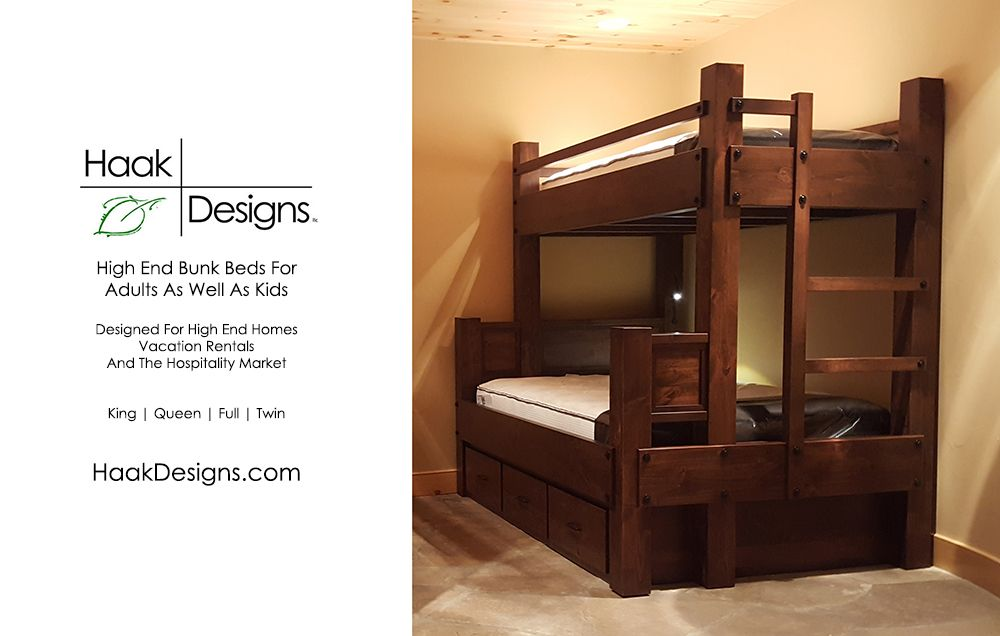 We Design And Build High End Bunk Beds For Use By Adults As Well As