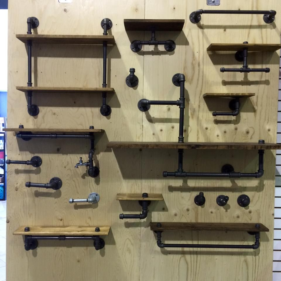 tendance la d co en tuyaux plomberie tuyau et tablette. Black Bedroom Furniture Sets. Home Design Ideas