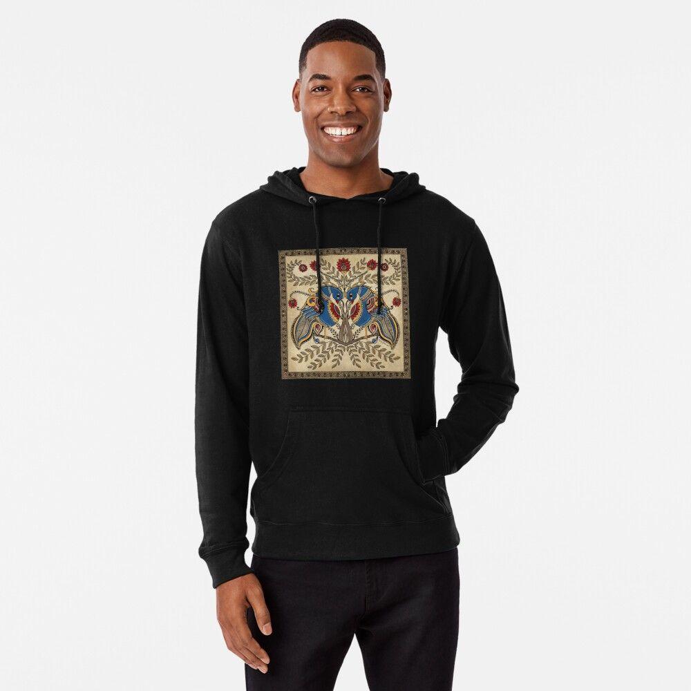 The Gemini Peacocks By Prita D Redbubble Hoodies Lightweight Hoodie Fashion [ 1000 x 1000 Pixel ]