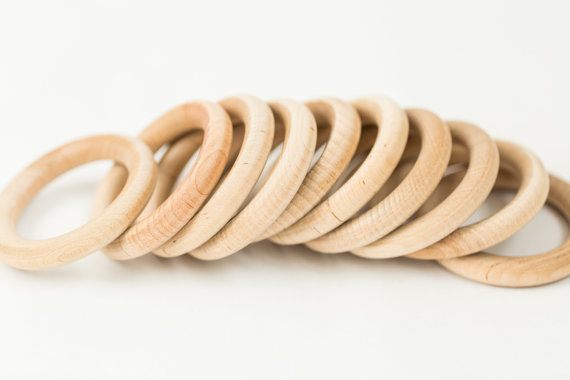 Wooden Curtain Rings Set Of 10 By Fancythatfavor On Etsy Wood