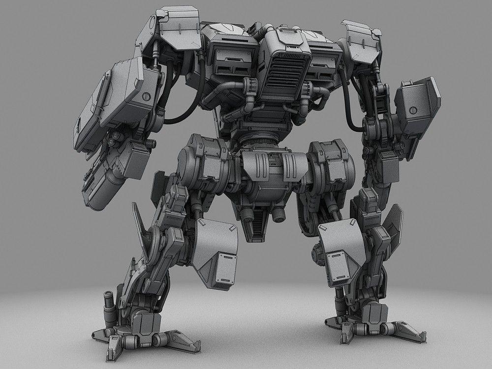 3d battle robot 창조적인 로봇