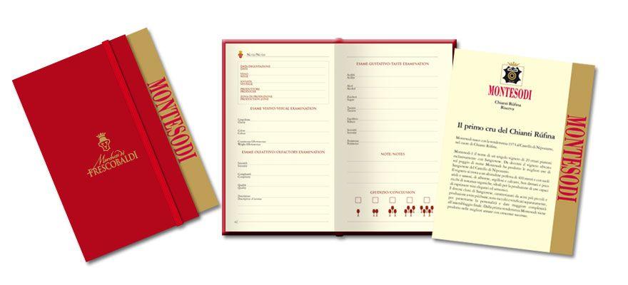 Marchesi de' Frescobaldi - Guida alla degustazione e cartolina Montesodi. Realizzazione: Agenzia Verde