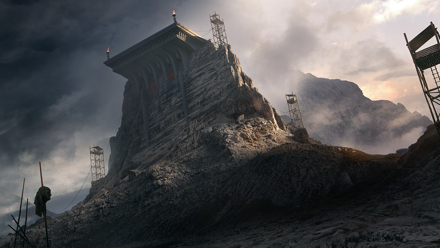 Portfolio of selected recent matte painting projects.