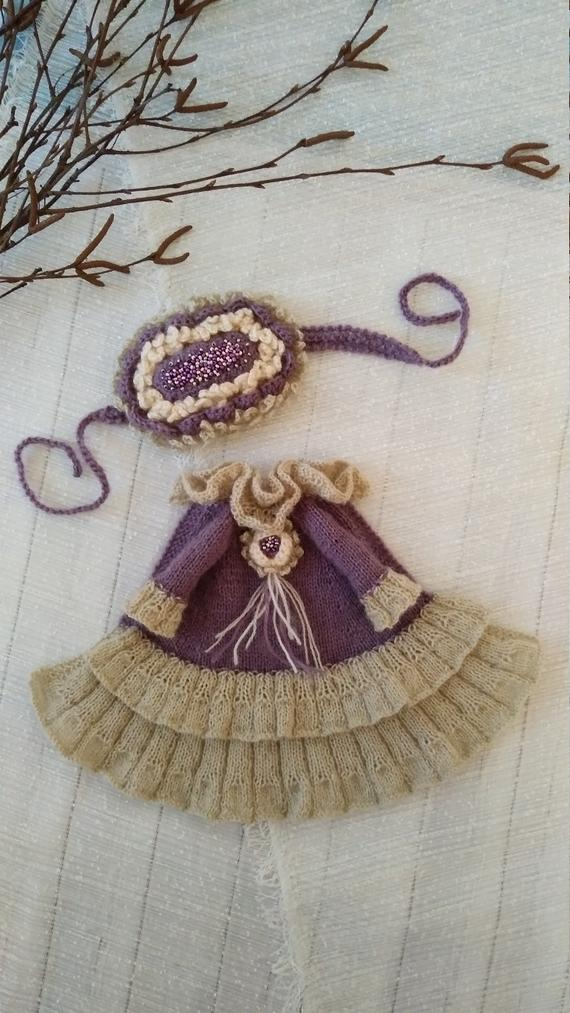 Blythe boho dress.Blythe accessories.Blythe head adornment for Blythe.Boho style set. Blythe dress s #dollvictoriandressstyles