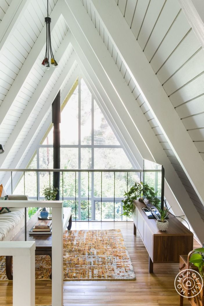 An Earthy A-Frame for Jake Hurwitz | Earthy, Living rooms and Interiors