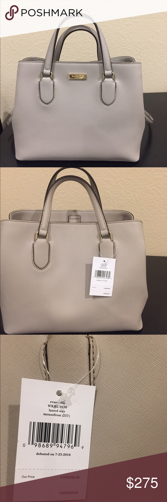 Kate Spade purse Brand New Kate Spade purse! Tags still on!! Style is laurel way and color is moussfrost! kate spade Bags Crossbody Bags