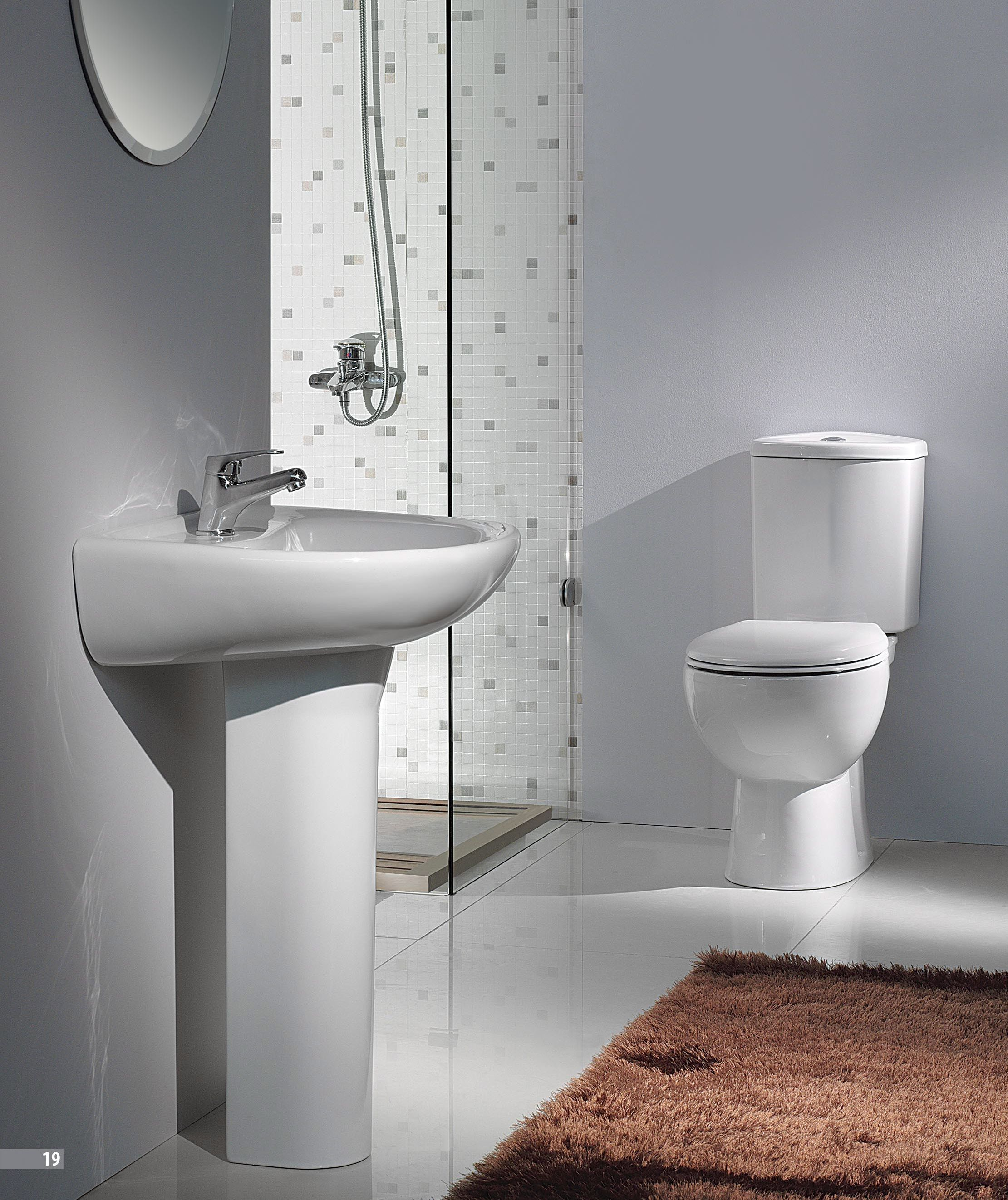 Beautiful Bathrooms Images With Contemporary Pedestal Sink And Brown Bathroom Rug Design For Bathroom Remodel Photos Best Bathroom Designs Brown Bathroom Rugs