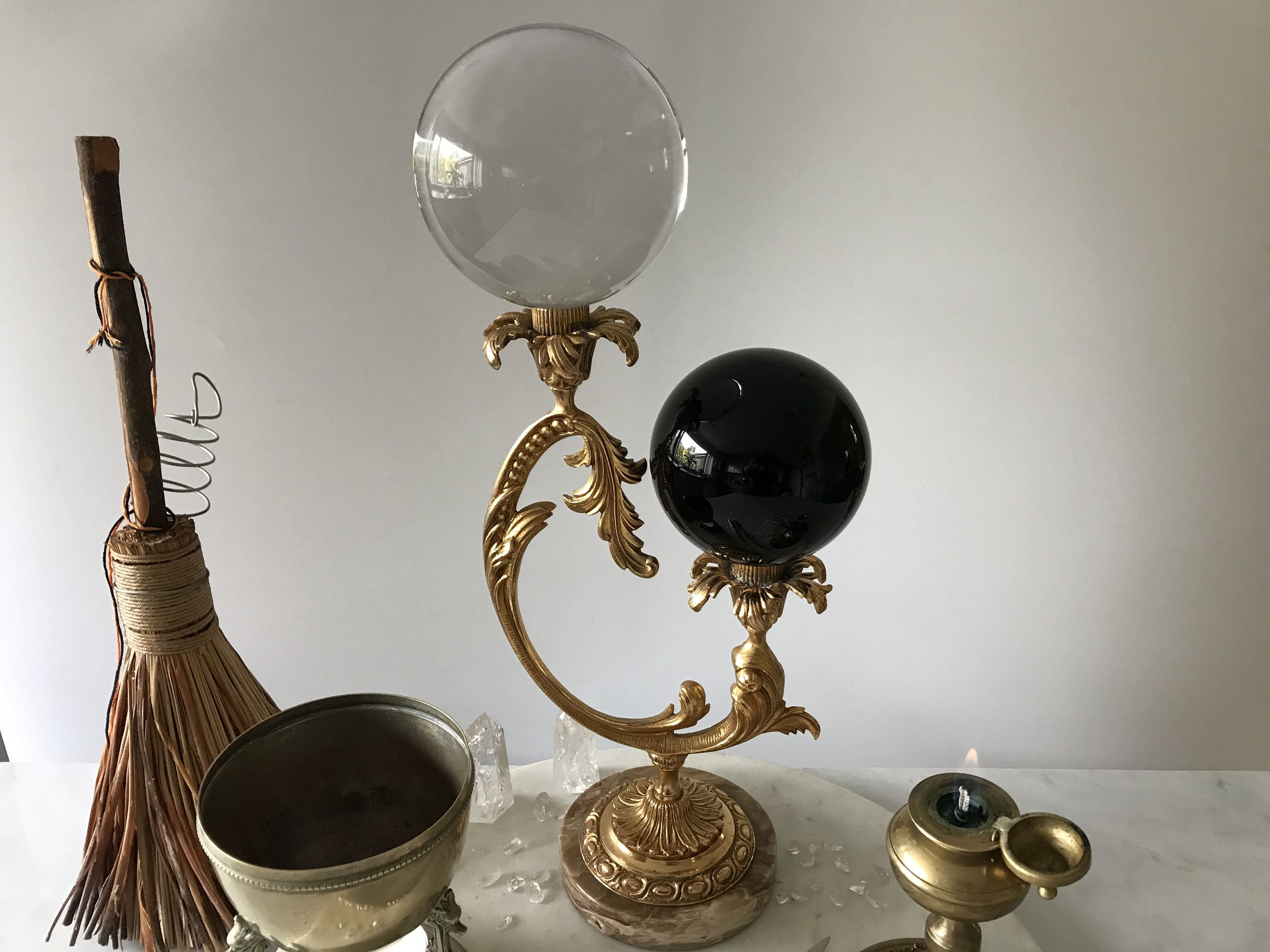 Wooden Display Stand Base for Crystal Ball Glass Globe Photography Len