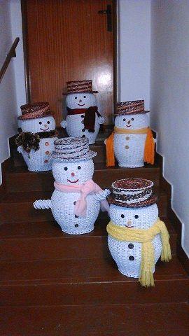 Papletoví snehuliaci:)) / Artmama.sk