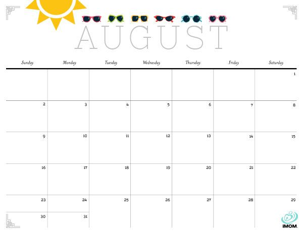 Cute Monthly Calendar Printables  Notebooks