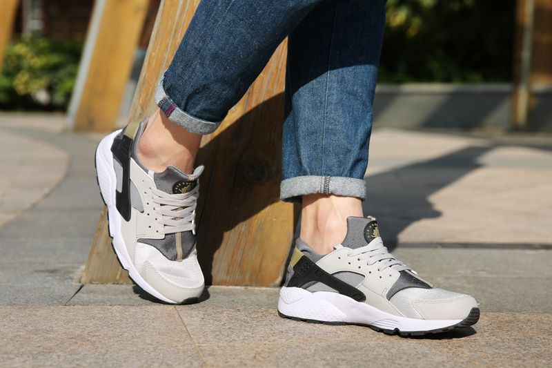 #womens #running #shoes Nike Air Huarache Wolf Grey Ash Grey Bamboo Brown On