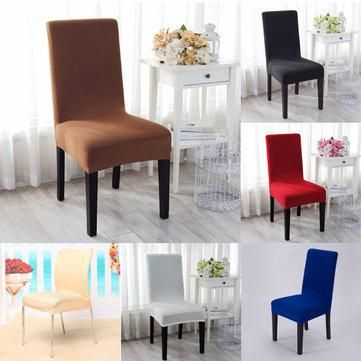 elegant jacquard fabric solid color stretch chair seat cover rh pinterest com