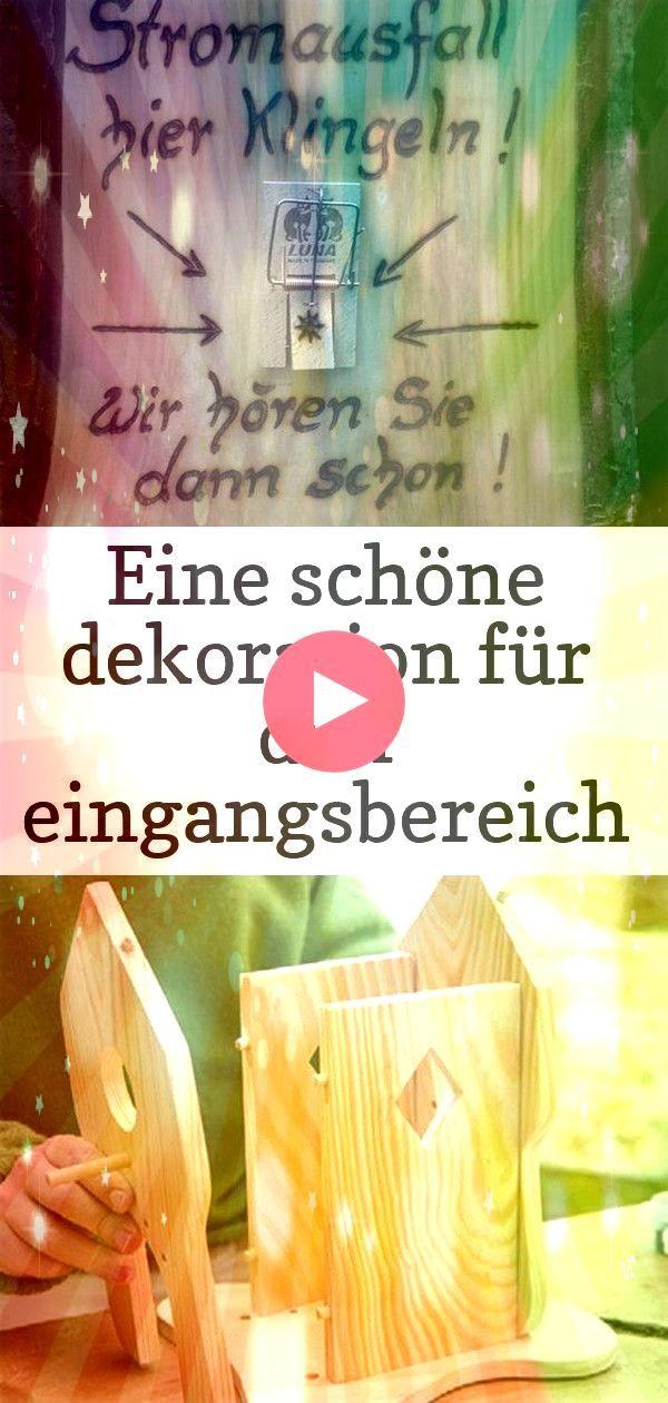 eingangsbereich für den bereich der türklingel 4 A nice decoration for the entrance area for the area of the doorbell I created h Eine schöne Dekoration f&...